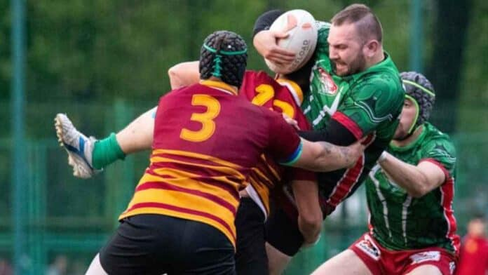 Russian Rugby League tackle