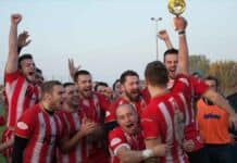 Red Star Belgrade celebrate 2020 Grand Final win
