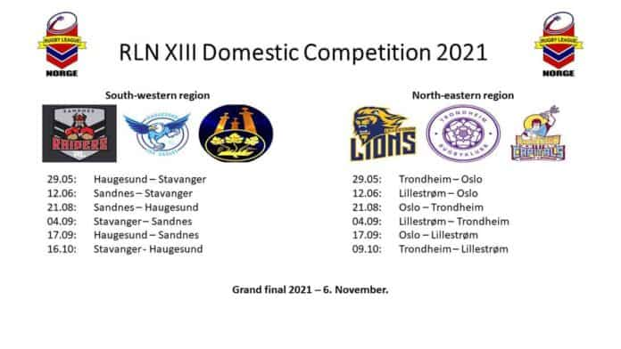 Rugby League Norge XIII Domestic 2021