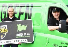 Tim Sheens with Green Flag's Dan Taylor